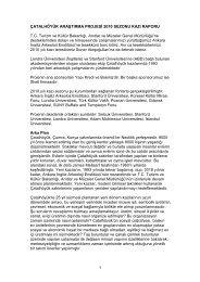 1 ÇATALHÖYÜK ARAŞTIRMA PROJESİ 2010 SEZONU KAZI ...