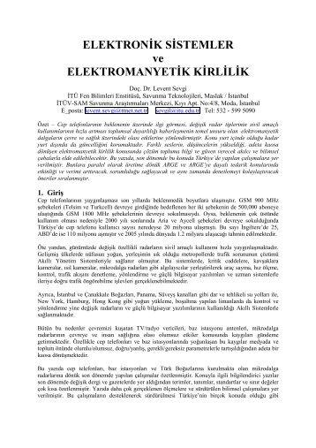 Elektronik Sistemler ve Elektromanyetik Uyumluluk