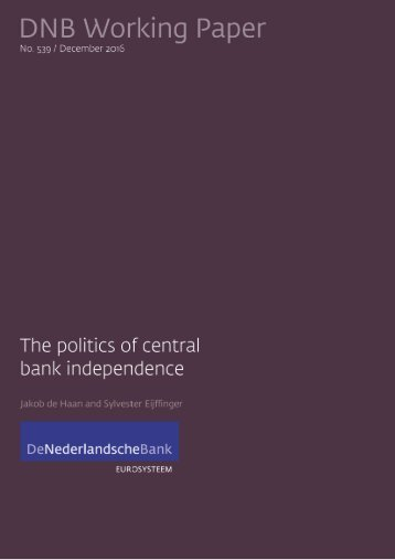 The politics of central bank independence