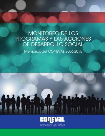 MONITOREO DE LOS PROGRAMAS Y LAS ACCIONES DE DESARROLLO SOCIAL
