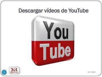 Descargar video de Youtube