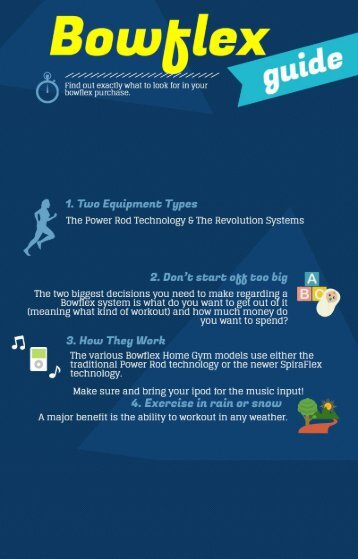An Infographic Guide To Bowflex