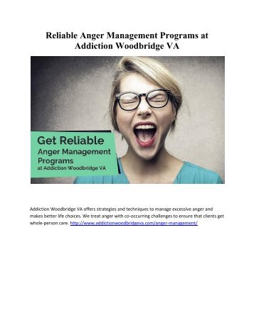 Reliable Anger Management Programs at Addiction Woodbridge VA