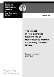 of Real Exchange Rate Shocks on Manufacturing Workers An Autopsy from the MORG
