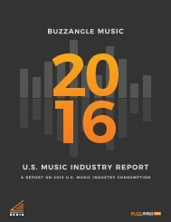 BUZZANGLE MUSIC U.S MUSIC INDUSTRY REPORT