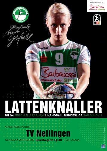 Lattenknaller 04 - 28.12.2016 - Saison 2016/17 - FRISCH AUF Frauen
