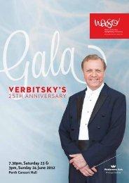 Verbitsky's - West Australian Symphony Orchestra