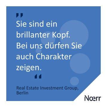 Berlin: Rechtsanwälte (m/w) Real Estate