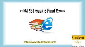 HRM 531 week 6 Final Exam