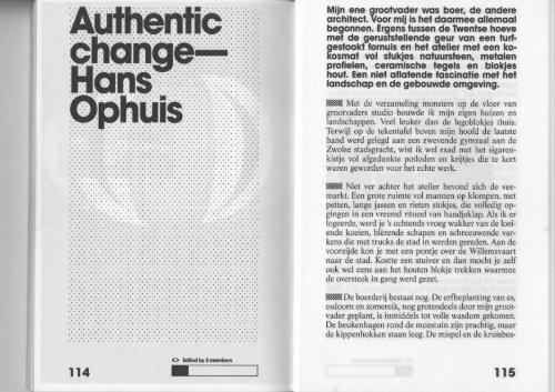FORUM 06 NL Horizon : AetA - Authentic change - Hans Ophuis