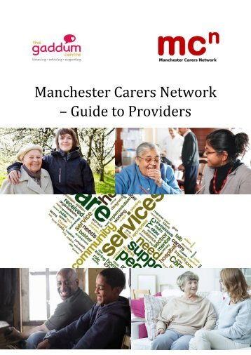 Manchester Carers Network – Guide to Providers