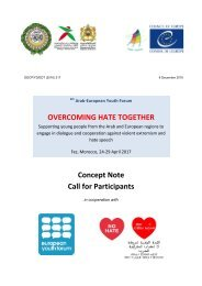OVERCOMING HATE TOGETHER Concept Note Call for Participants