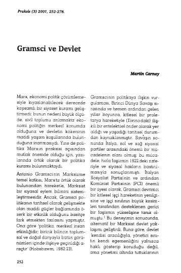 Gramsci ve Devlet - Praksis