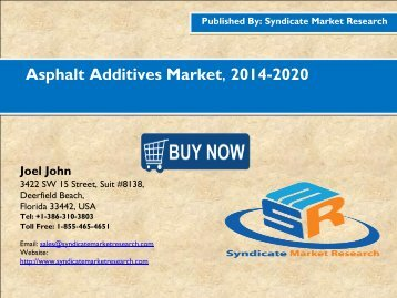 Asphalt Additives Market, 2016-2020