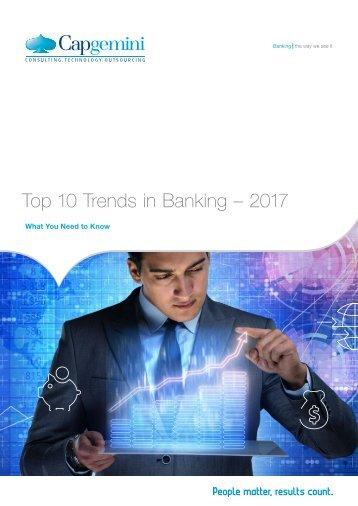 Top 10 Trends in Banking – 2017