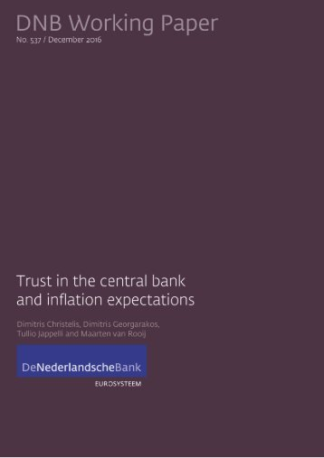 Trust in the central bank and inflation expectations