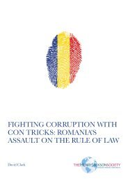 FIGHTING CORRUPTION WITH CON TRICKS ROMANIA'S ASSAULT ON THE RULE OF LAW
