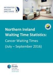 Northern Ireland Waiting Time Statistics