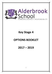Key Stage 4 OPTIONS BOOKLET 2017 – 2019
