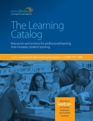 The Learning Catalog