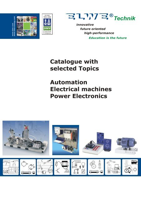 Catalogue with selected Topics Automation Electrical machines