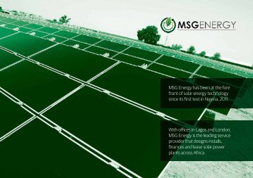 MSG Energy Brochure A4 Landscape