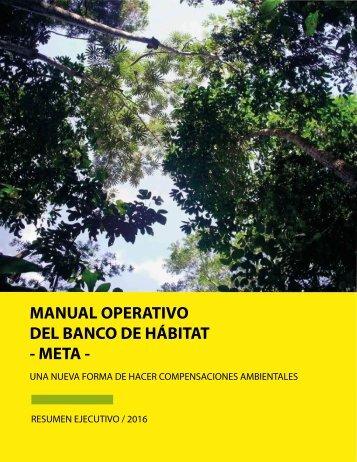 MANUAL OPERATIVO DEL BANCO DE HÁBITAT - META -
