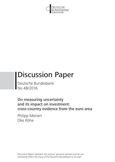 Discussion Paper