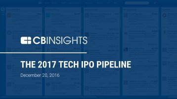 THE 2017 TECH IPO PIPELINE
