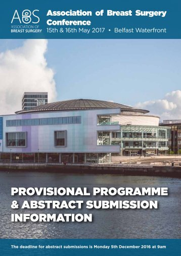Provisional programme & abstract submission information