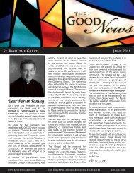 Dear Parish Family: - Saint Basil The Great