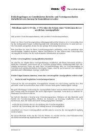 Risikofragebogen zur kombinierten Betriebs- und Vermögensschaden