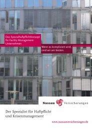 Produktinformation Spezialhaftpflichtkonzept - Nassau ...