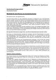 Merkblatt für den Einzug von Auslandsschecks - Naspa
