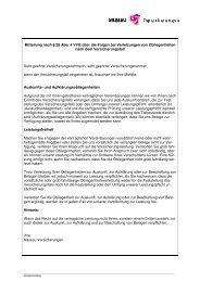 Mitteilung nach § 28 Abs.  4 VVG über die Folgen bei Verletzungen ...