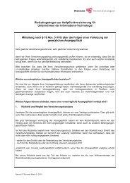 Kurzfragebogen N IT 01 2010 - Nassau Versicherungen