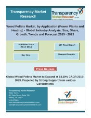 Wood Pellets Market, by Application (Power Plants and Heating) - Global Industry Analysis, Size, Share, Growth, Trends and Forecast 2015 - 2023