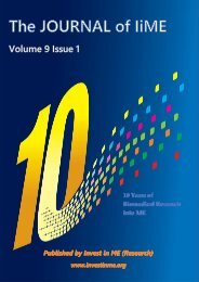 Journal of IiME Vol 9 Issue 1