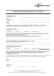 Spezialversicherung für Familien/Privatpersonen - Antragsformular