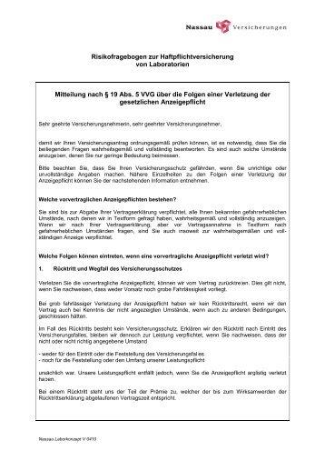 NLC Fragebogen 0410 - Nassau Versicherungen