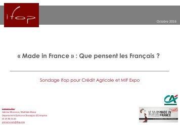 « Made in France »  Que pensent les Français ?