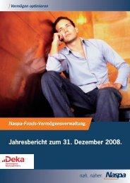 Jahresbericht zum 31. Dezember 2008. - Naspa