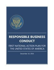 RESPONSIBLE BUSINESS CONDUCT