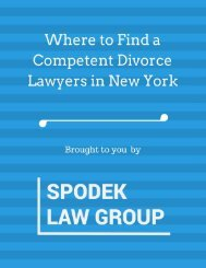 Where to Find a Competent Divorce Lawyers in New York