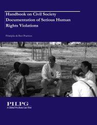 Handbook on Civil Society Documentation of Serious Human Rights Violations