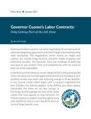 Governor Cuomo's Labor Contracts