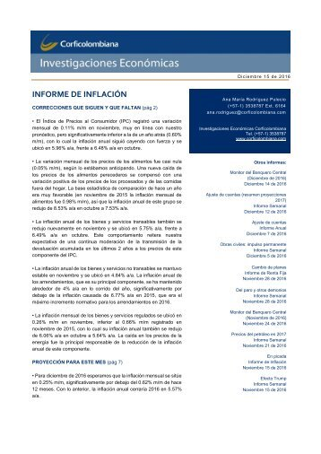 INFORME DE INFLACIÓN
