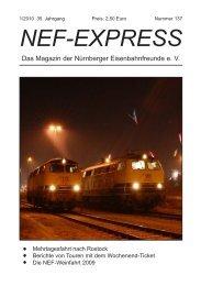 NEF-EXPRESS - Nürnberger Eisenbahnfreunde eV