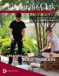 Duke School Under the Oak Magazine Fall 2016