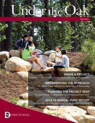 Duke School Under the Oak Magazine, Fall 2015
